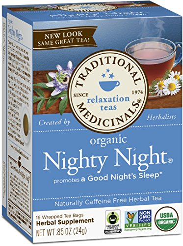 (Traditional Medicinals Organic Nighty Night, 16-Count Boxes (Pack of 6))