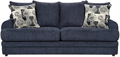 Flash Furniture Exceptional Designs by Flash Caliber Navy Chenille Sofa