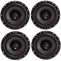 4) MB Quart X-Line 80 Watt 6.5 Inch Coaxial Car Audio Speakers Pair | XK1-116