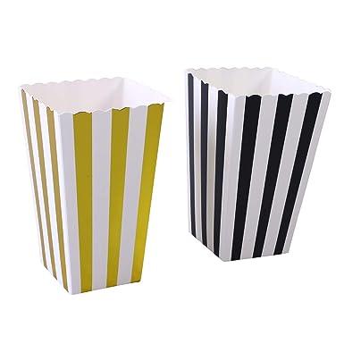 24 bolsas clásicas de papel rayado,palomitas de maíz,cajas ...