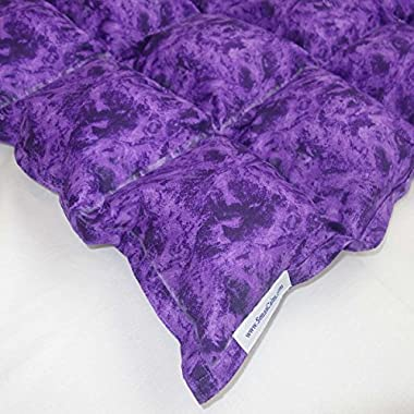 SensaCalm Therapeutic Adult-Length Weighted Blanket - Majestic Purple-18 lb (for 150 lb User)