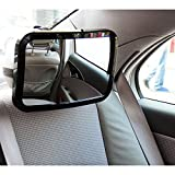 Tirol Black Rectangle Car Adjustable Baby Safety Mirror / Auto Rear Baby Safety Convex Mirror for Car Baby Safety Products