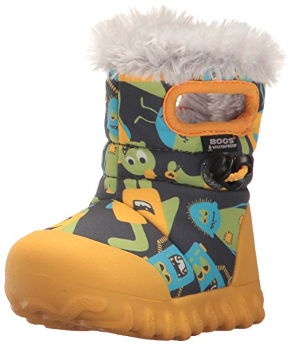 Bogs Gelb Multi Waterproof Boot Toddler B Moc Grey Kids' Dark Insulated Winter rCqUrw