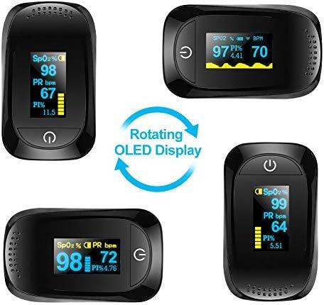 Haofy Oxímetro de Pulso, Pulsioxímetro de Dedo Monitor de Frecuencia Cardíaca y la Saturación de Oxígeno en la Sangre con Pantalla OLED, Aprobado por la FDA y la CE 6