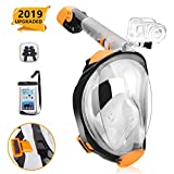 RASSE Full Face Snorkel Mask,Snorkeling Mask with Anti-Fog Anti-Leak Design and Detachable Camera Mount, Easier Breath with 180 Degree...