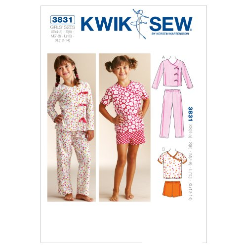 Kwik Sew K3831 Sleepy-Time Pajamas Sewing Pattern, Size XS-S-M-L-XL ()