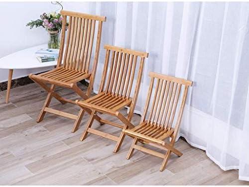 Wangcjd Tabouret en Bois Chaise Pliante en Bambou Chaise de Bureau Chaise en Bambou Portable Chaise en Bambou Massif Chaise de Bureau Chaise de Plage (Size : Large)
