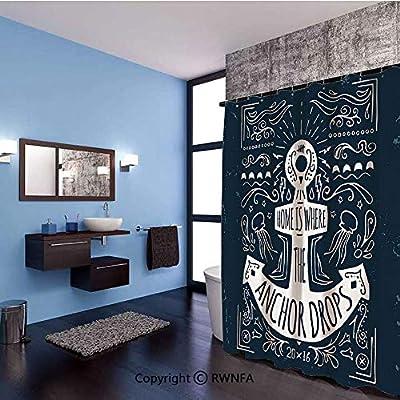 AngelSept Badezimmer-Duschvorhang, Motiv: Delfin ...