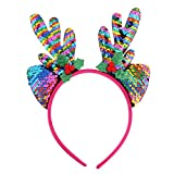 Freebily Reindeer Antlers Headbands Hairhoop Christmas Party Fancy Dress Novelty Accessory Type A Colorful One Size