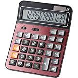 Financial Professional Standard Calculators,Large calculator,Office/Business/ Scientific Desktop Calculator with 14-digit Large Display, Solar and AAA Battery Dual Power