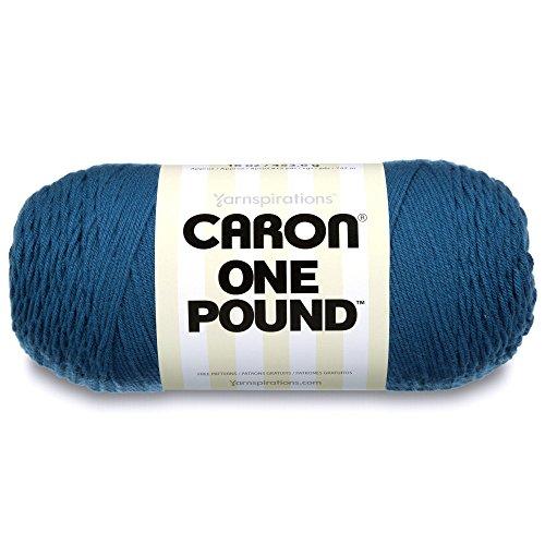 Caron  One Pound Solids Yarn - (4) Medium Gauge 100% Acrylic - 16 oz -  Ocean- For Crochet, Knitting & Crafting