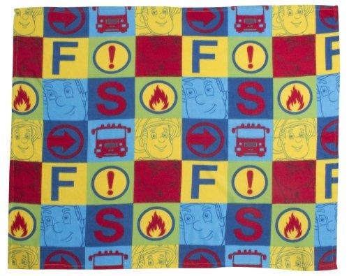 Character Fireman Sam 'Duty' Rotary 100% Polyester Fleece Blanket Throw