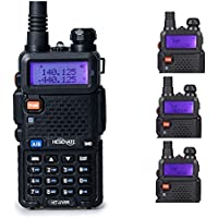 HESENATE HT-UV8R Two Way Radio 8-Watt High Power Dual Band 136-174/400-520MHz Tri-Power Output 8/4/1W w/ 1800mAh Battery Ham Radio