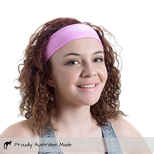 Red Dust Active Lightweight Sports Headband - Moisture Wicking Pink Sweatband - Ideal for Running, Cycling, Hot Yoga and Athletic Workouts - Designed for Women Borrowed by Men by Red Dust Active (Image #7)