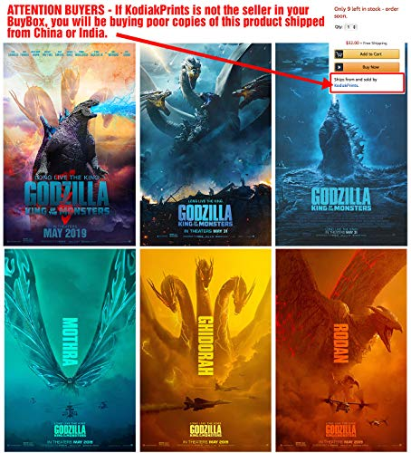 - Set of 6 Godzilla (2019, King of The Monsters) 11