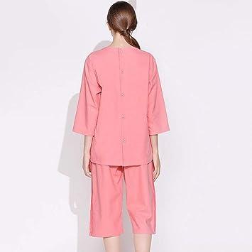 Pajamas Traje de Pijama, algodón con Bolsillos Albornoz, algodón y Lino Modelos Masculinos y