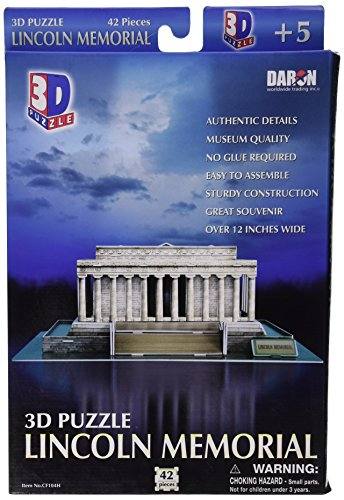(Daron Lincoln Memorial 3D Puzzle, 42-Piece)