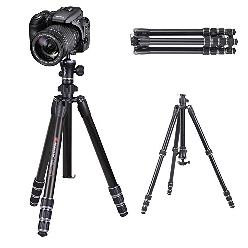 "Camera Video Tripod Travel Tripod for DSLRs Canon Nikon Sony Panasonic Fujifilm Digital Cameras, Camcorders, 55"" Compact Aluminum Tripod with Ball Head by JoXnfoto"
