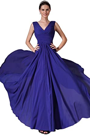 Felaladress Womens Gorgeous Long Blue Size 6-30 Evening Prom Dresses