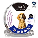 Dog Flea Treatment Collar - Dog Flea Collar, Flea And Tick Collar For Dogs, Allergy Free And Safe, Prevents And Removes Fleas, Ticks, Lice And Mosquitos 8 Months, Flea And Tick Prevention For Dogs
