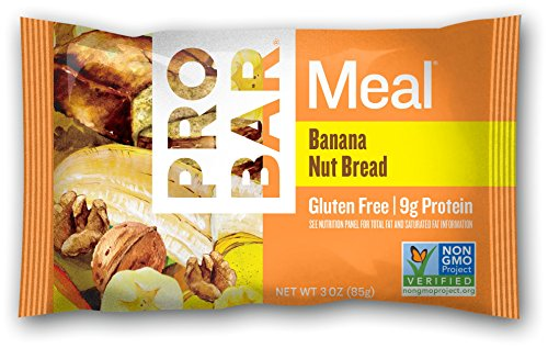 PROBAR - Meal Bar, Banana Nut Bread, 3 Oz, 12 Count in 1 Box - Plant-Based Whole Food Ingredients