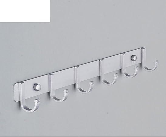Aluminum Wall Single Hook Jewelry Robe Clothes Bags Keys Bath Hanger Rack