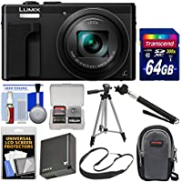 Panasonic Lumix DMC-ZS60 4K Wi-Fi Digital Camera (Black) with 64GB Card + Case + Battery + Tripod + Selfie Stick + Sling Strap + Kit Benefits Review Image