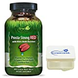 Irwin Naturals Prosta Strong RED with Nitric Oxide Boosters, Support Prostate Health and Blood Flow, 80 Liquid Softgels Bundle with a Lumintrail Pill Case