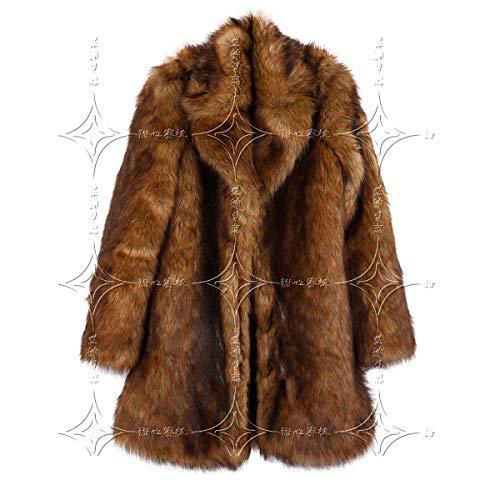 Cardigan Donna Brown Pelliccia amp;tt Cepfant Lunga Bavero Caldo Giacca l brown Cappotto Manica D'inverno Cappotto W Faux Di wvqTxTI