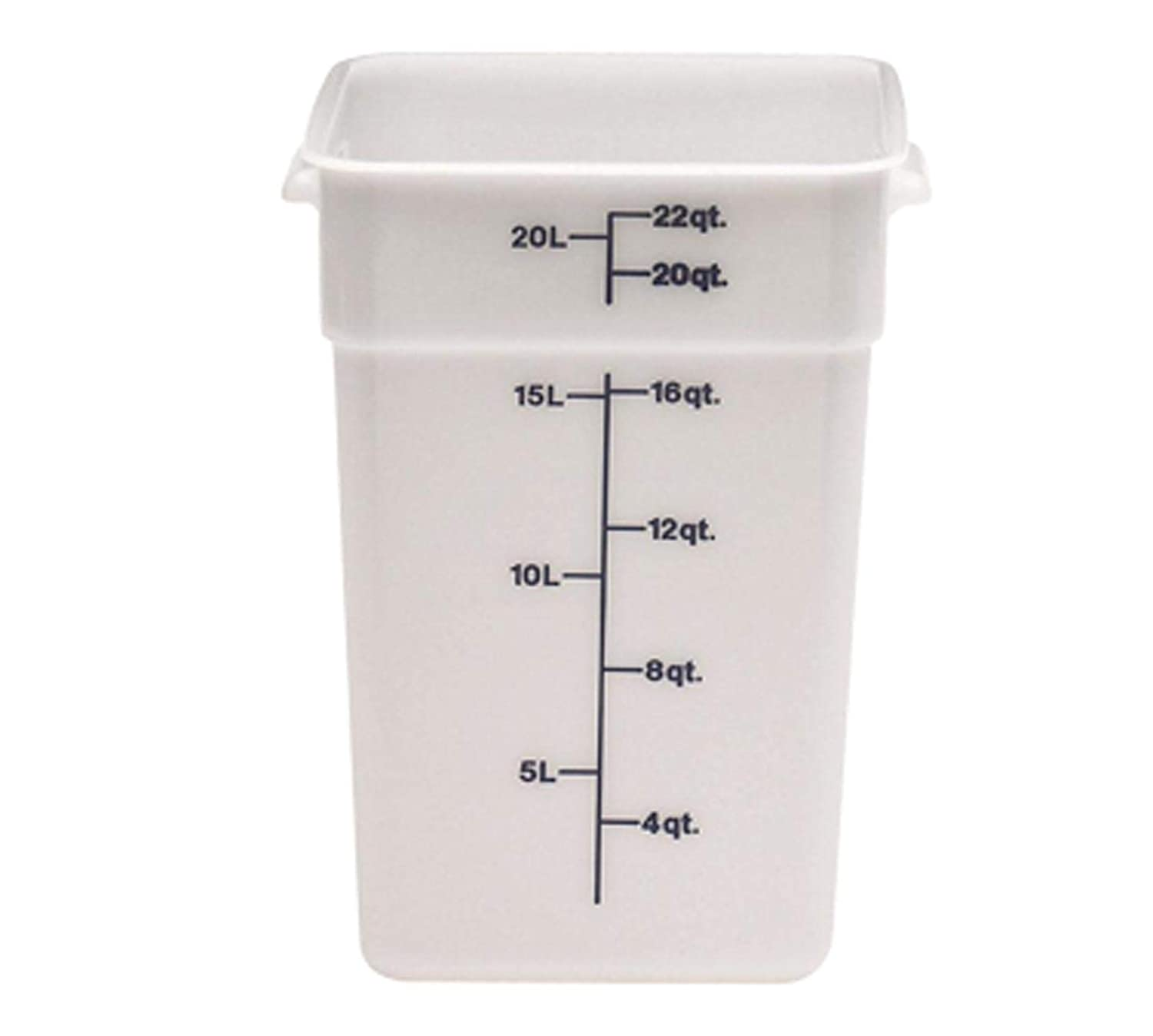 Cambro 22SFSP148 White Poly 22 Qt CamSquare Food Storage Container