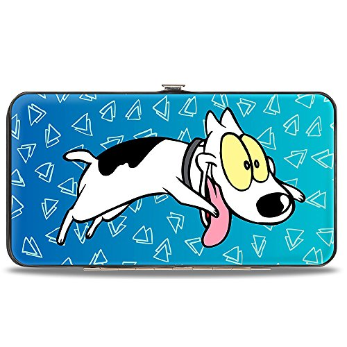 Buckle-Down Hinge Wallet - Rocko's Modern Life Spunky Pose + Logo Blues/White Modern Kids Wallet