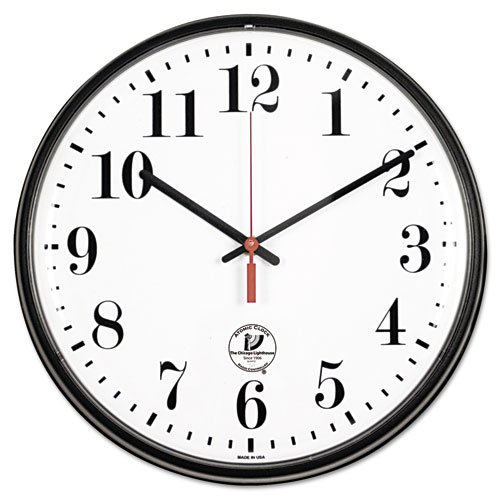 Chicago Lighthouse Contemporary 12.75 in. Slimline Atomic Wall (Black Atomic Slimline Wall Clock)