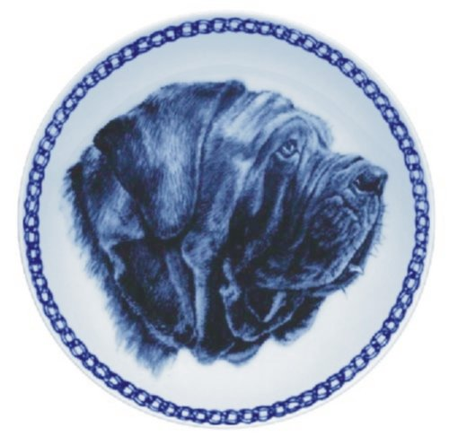 Neapolitan Mastiff Lekven Design Dog Plate 19.5 cm  7.61 inches Made in Denmark NEW with certificate of origin PLATE  7573