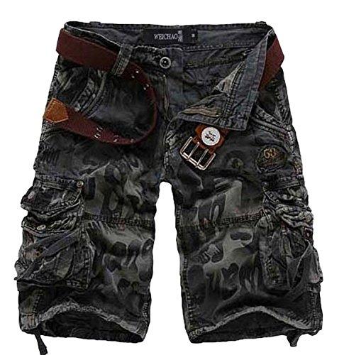 Reinhar Men's Retro Cargo Shorts Grey36 (Wearables Cargo Jacket)