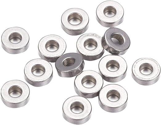 100pcs 304 Stainless Steel Bead Spacers Metal Jewellery Findings 7mm