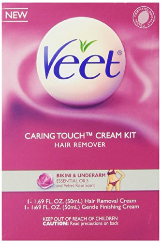 Veet Caring Touch Bikini and Underarm Hair Remover Cream, 1.69 Ounce