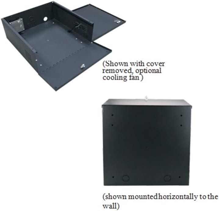 21X21X8 Heavy Duty 16 Gauge Steel NVR /& DVR Security Lock box with Fan