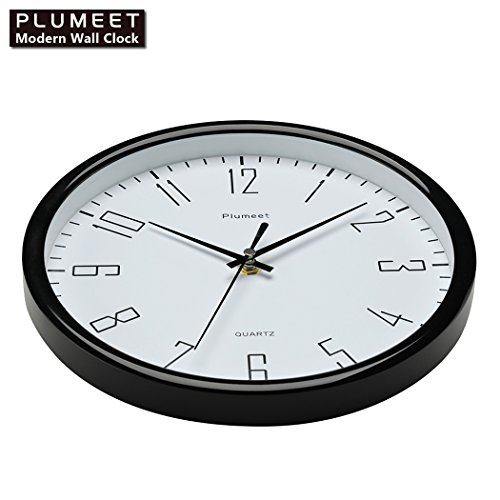 Plumeet 10 Quot Silent Wall Clock With Large Graceful Numbers