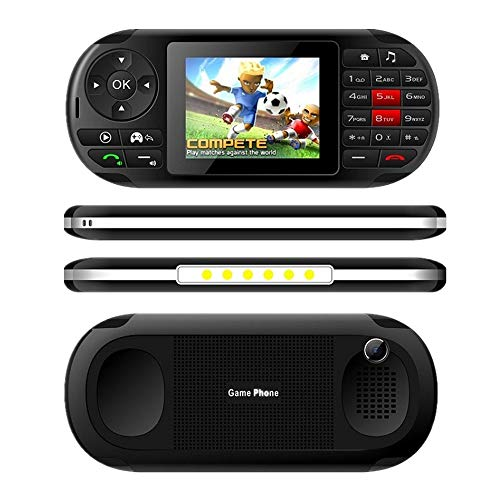 Startview Moblie Phone & Game Console, Built in 84 Games Moblie Phone, Creative Appearance, Flashlight GPRS Dual Sim (Black)