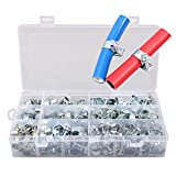 TOOGOO 135tg Galvanized Ho Clamps Assortment 8-18mm Screwdriver Ho Clamps