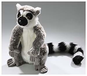 Peluche - Lémur de cola anillada sentado (27cm, 45cm con cola) [Juguete]
