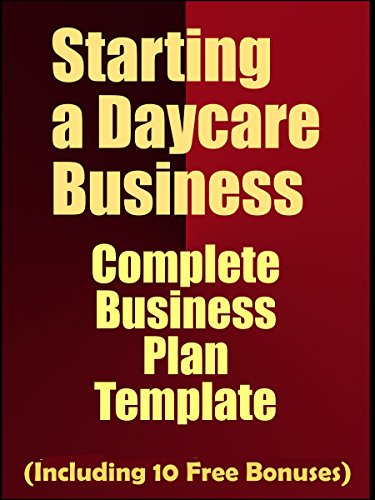 Amazon starting a daycare business complete business plan starting a daycare business complete business plan template including 10 free bonuses by accmission Choice Image