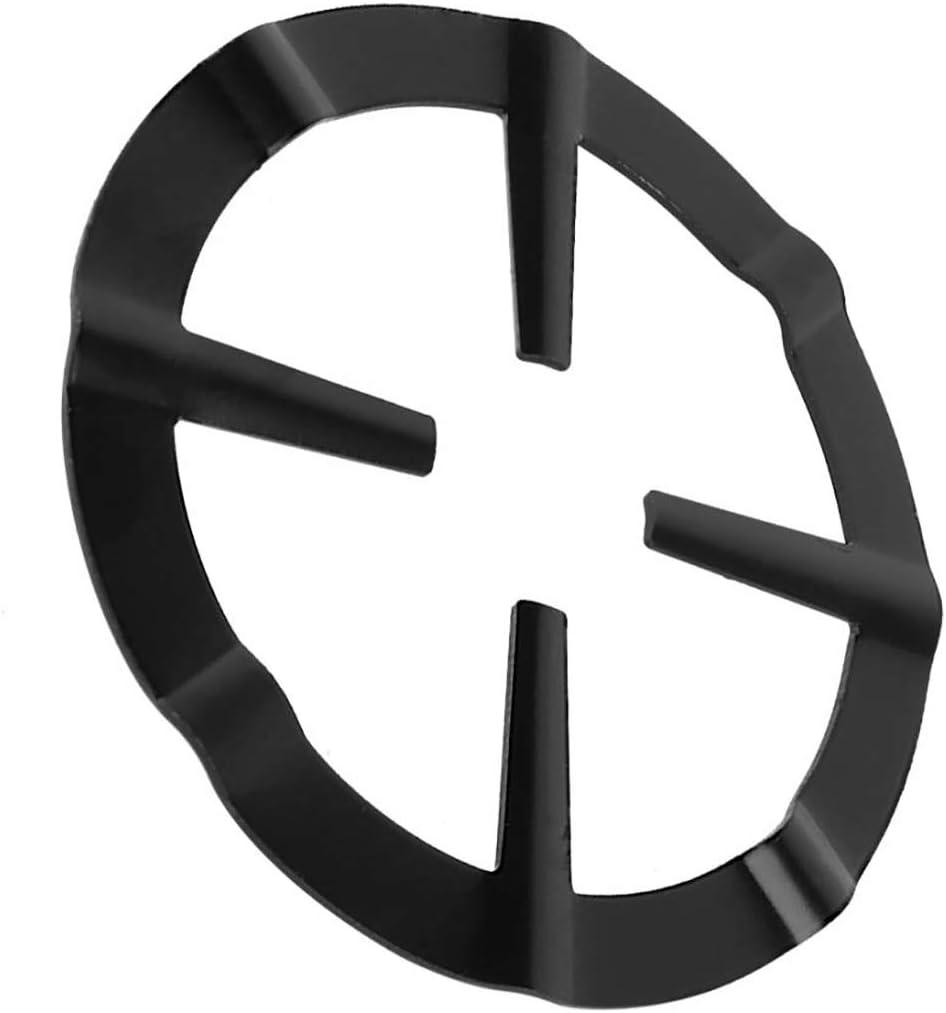 FineInno 2Pcs Wok Support Stand Non Slip Black Cast Iron Stove Trivets Wok Ring Pan Holder Cooktop Range Pan Gas Burner Milk Pot Stand for Gas Hob Black