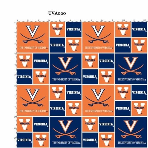University of Virginia Cotton Fabric - Sold By the - Cotton University Fabric