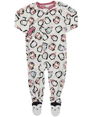 Girls 1-piece Micro-fleece Pajamas