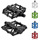 Chollima Aluminum Alloy Bicycle Pedals Road Bike Pedals for BMX MTB Cycling 9/16 Inch