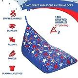 5 STARS UNITED Stuffed Animal Storage Bean Bag