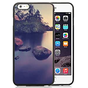Unique and Attractive TPU Cell Phone Case Design with Long Exposure Smooth Lake Landscape iPhone 6 plus 4.7 inch Wallpaper