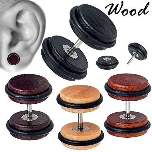 Double O-ring Wood Cheater Fake Plug (4 Pieces - 8mm) (Double Plugs Wood O-ring)
