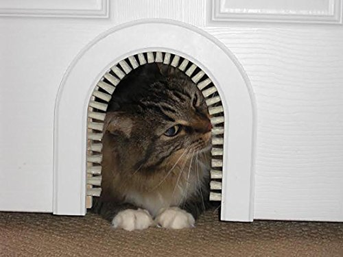 Cat Door - Cathole Interior Pet Door With Cleaning Brush (Cat Door For Door compare prices)